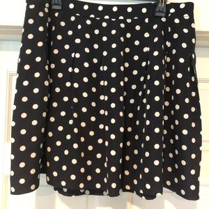 Jcrew Aline Skirt polka dot